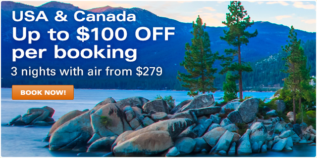 USA & Canada - Up to $100 OFF per booking